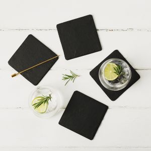 Four Slate Square Coasters