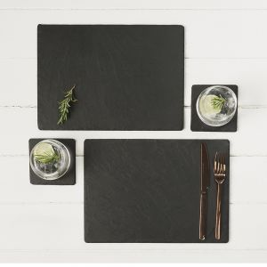 Two Slate Trivets/Large Place Mats