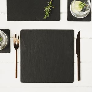 Two Slate Square Place Mats