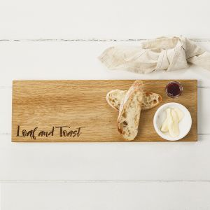 "Oak ""Loaf & Toast"" Medium Serving Platter by Scottish Made"