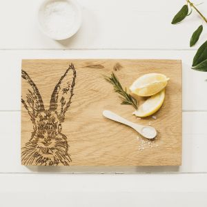 Hare Oak Serving Board 30cm by Scottish Made