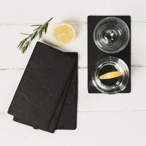 Four Slate Double Coasters