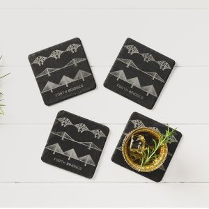 4  Forth Bridges Slate Coasters