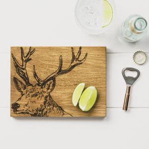 Stag Oak Cutting Board & Bottle Opener Set