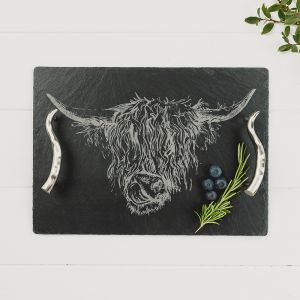 Medium Highland Cow Serving Tray
