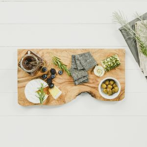 Small Rustic Olive Wood Rectangular Chopping Board
