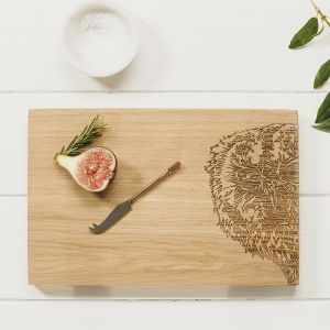 Owl Oak Serving Board  30cm by Scottish Made