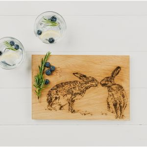 Kissing Hares Oak Serving Board 30cm