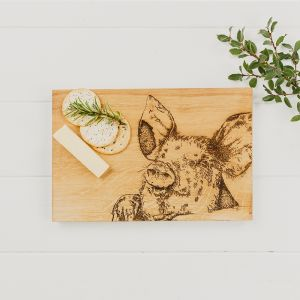 Pig Oak Serving Board 30cm