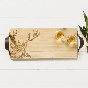 Stag Oak Serving Tray by Scottish Made