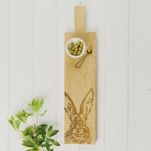 Long Hare Oak Serving Paddle