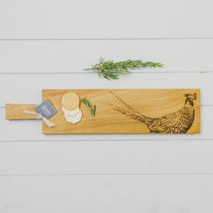 Long Pheasant Oak Serving Paddle
