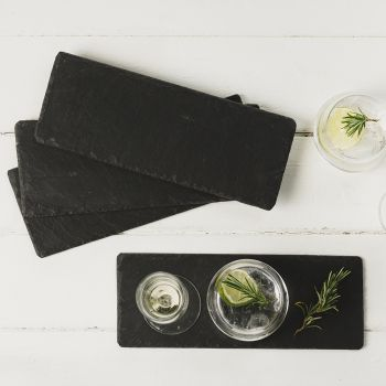 Four Slate Triple Coasters/Mini Cheese Boards