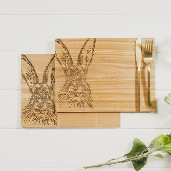 Buy 2 Hare Veneer Place Mats