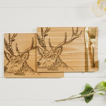 Buy 2 Stag Veneer Place Mats