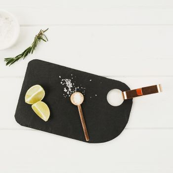 Small Slate Hanging Serving Board with Copper Hook
