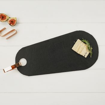 Tear Drop Slate Hanging Serving Board with Copper Hook