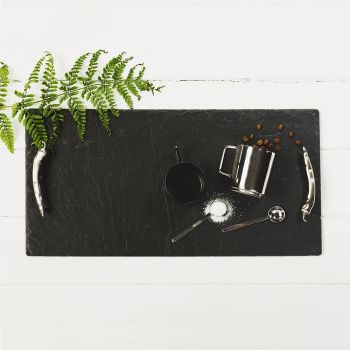 Large Slate Tray with Chilli Handles