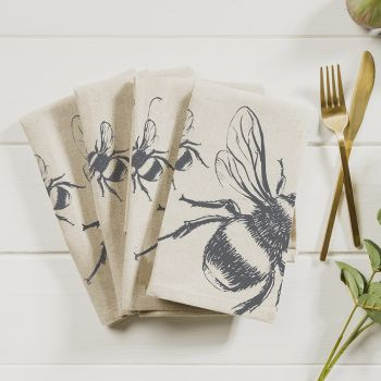 Main image of 4 Bee Linen Napkins