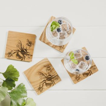 Product Image 4 Bee Veneer Coasters at JustSlate