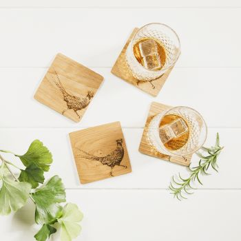 Product Image 4 Pheasant Veneer Coasters at JustSlate