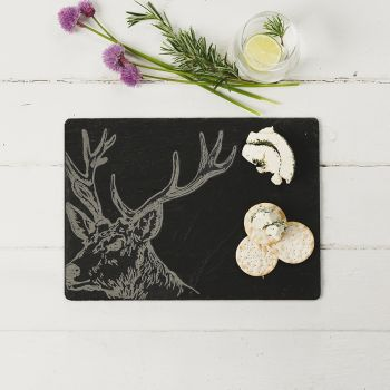 Slate Stag Cheese Board