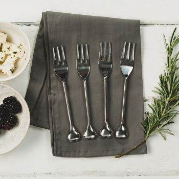 Four Heart Pastry Forks