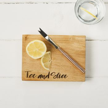 "Oak ""Ice & Slice"" Chopping Board 19cm by Scottish Made"
