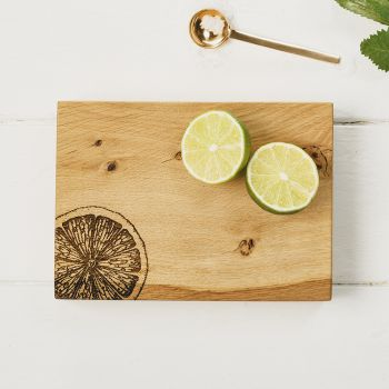 Oak Citrus Chopping Board 19cm by Scottish Made