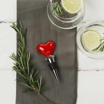 Heart Glass Bottle Stopper