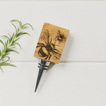 Product Image Bee Oak Bottle Stopper at JustSlate