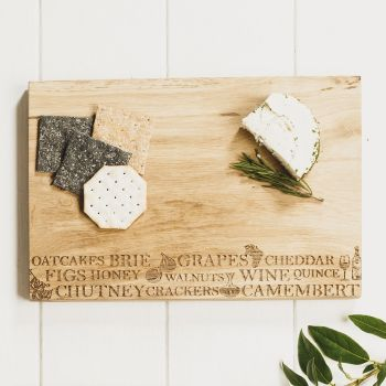 Oak Cheese Serving Board 30cm by Scottish Made