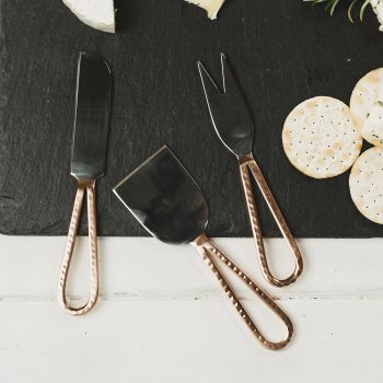 Three Copper Cheese Knives