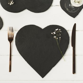 Two Slate Heart Place Mats