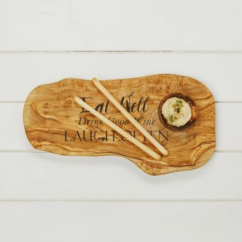 Eat Well, Drink Good Wine, Laugh Often Chopping Board 40cm