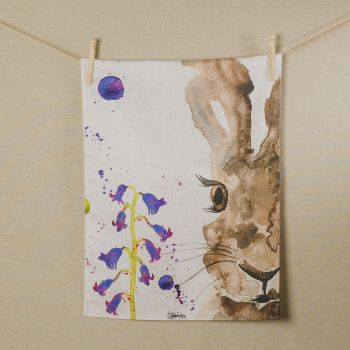 Main image of Hare Water Colour Tea Towel
