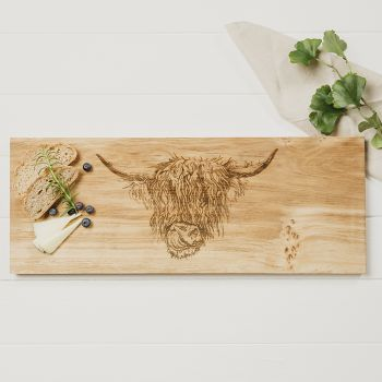 Buy Highland Cow Large Oak Serving Board