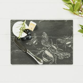 Small image of Bee Cheese Board & Knife Gift Set
