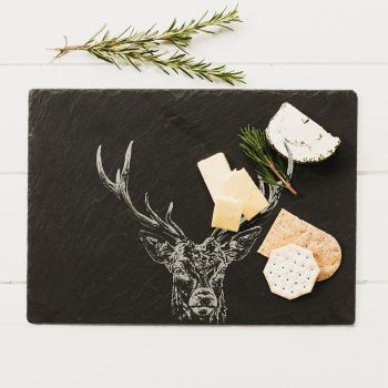 JSCBRSTP Stag Prince Slate Cheese Board 1