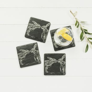 Small image of 4  Kissing Hares Coasters