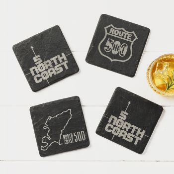 4  North Coast 500 Slate Coasters