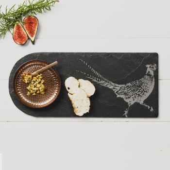 Pheasant Copper & Slate Serving Platter