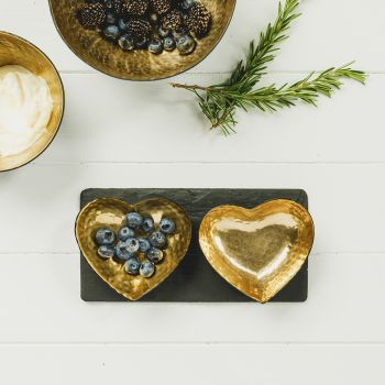Small image of Heart Gold Serving Set