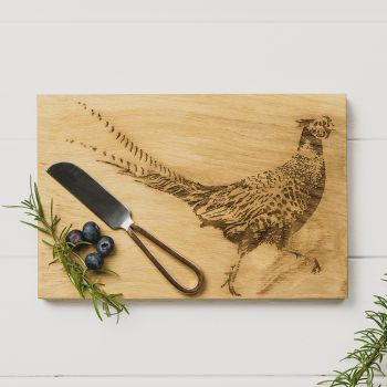 Pheasant Cheese Board & Knife Set