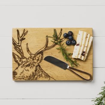 Stag Cheese Board & Knife Set