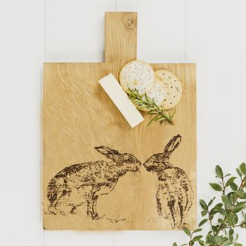Main image of Kissing Hares Medium Oak Serving Paddle