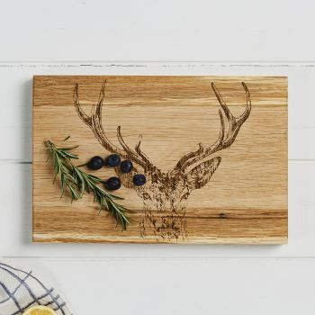 Main image of Stag Prince Oak Serving Board 30cm