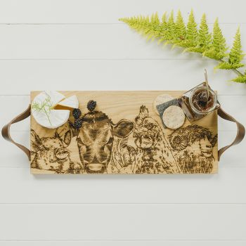 Main image of Country Friends Oak Serving Tray