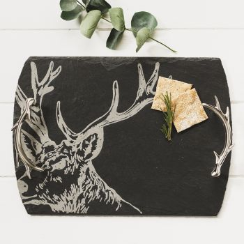 Medium Stag Slate Serving Tray