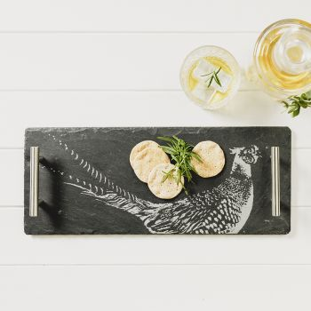 Small Slate Pheasant Serving Tray